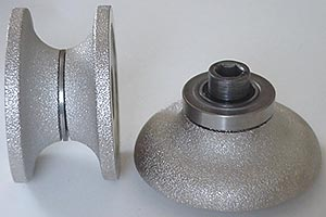 Brazed Grinding Wheels for Portable Rotors  Marble: Position 3,